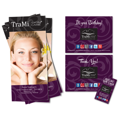 TraMi Skin Care | Collateral Branding